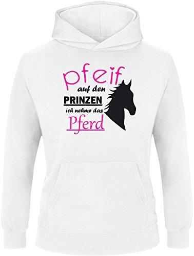 EZYshirt Pfeif auf den Prinzen ich nehm das Pferd Kinder Hoodie Kapuzenpullover