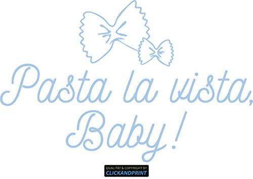 CLICKANDPRINT Aufkleber » Pasta la vista, Baby!, 130x83,5cm, Pastellblau • Wandtattoo / Wandaufkleber / Wandsticker / Wanddeko / Vinyl