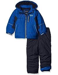 London Fog Toddler Boys' 2-Piece Snow Pant and Jacket Snowsuit, Blue, 3T