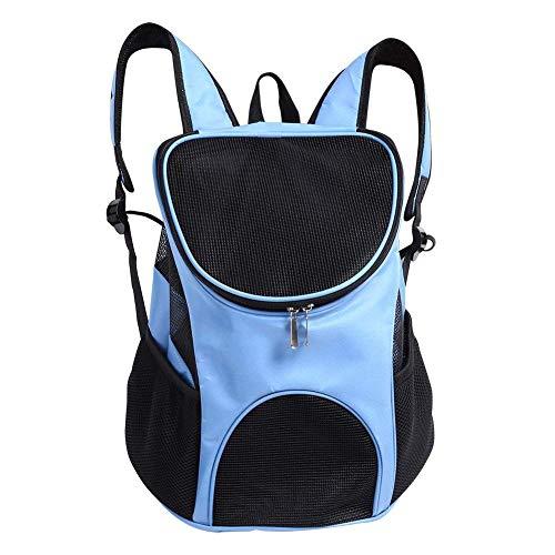 Sacchetto di spalla portatile per cani Zaino di animali traspirante Tonga di viaggi Aire Libre per animali domestici cane gatto coniglio blu