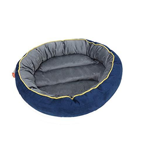 QIQI Pet Mat Blankets Pet Supplies Hund Katze Bett Kissen Pet Carrier Schlaf Gut Lounge Weiches Hundebett (Farbe : Blau, größe : L) -