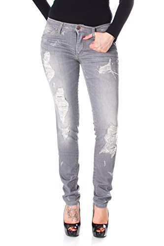 Please Slim-FIT Jeans P95 P95HCO0T30 GERISSEN m grau
