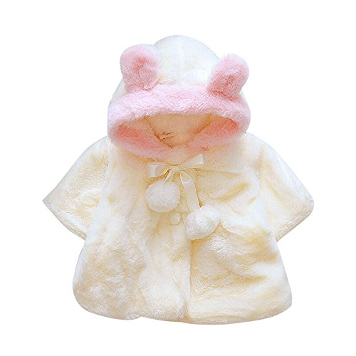 LANSKIRT Infantil bebé Niñas Invierno Pieles Abrigo