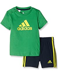 adidas I Su Easy B - Chándal para niños de 1-2 años, color verde / amarillo