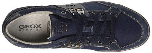 Geox U Box B, Pompes à plateforme plate homme Blu (Navy)