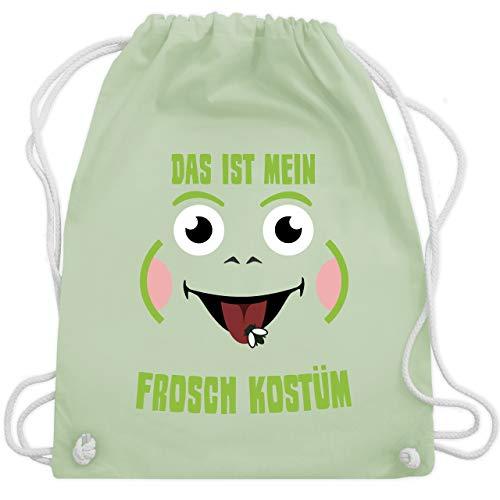 Karneval & Fasching - Das ist mein Frosch Kostüm - Unisize - Pastell Grün - WM110 - Turnbeutel & Gym ()