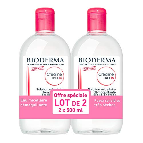 Bioderma Crealine TS H2O Micelle Solution 2 x 500 ml