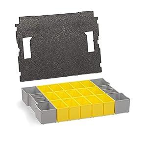 L-BOXX 102 Insetboxen-Set Bosch Sortimo | B3 Einsätze mit | Erstklassige Sortierboxen für Kleinteile | Ideale Sortierbox Schrauben klein