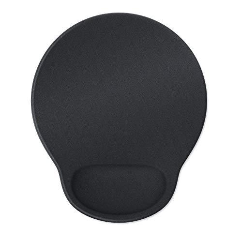 CSL - Office Mauspad | ergonomisches Mousepad | mit Schaumstoffkissen als Handballenauflage bequemer als Gelkissen | Entlastung des Handgelenks | Rutschfeste Gummi-Unterseite
