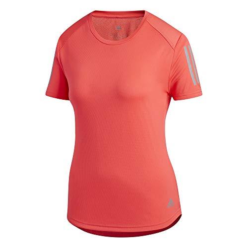 adidas Own The Run Tee Women T-Shirt (Short Sleeve), Damen L Shockrot