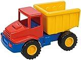 Lena 01220 - Mini Compact Muldenkipper, Baustellen Fahrzeug ca. 12 cm lang, kleines Spielfahrzeug LKW Kipper für Kinder ab 2 Jahre, robuster Kipplaster für Sandkasten, Strand und Kinderzimmer