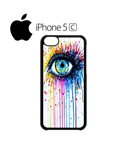 Rainbow Eye Art Drawing Cool Funny Hipster Swag Mobile Phone Case Back Cover Hülle Weiß Schwarz for iPhone 5c White Weiß
