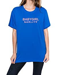 d386114604 MINGA LONDON Babygirl Japanese T-Shirt Top Fun Women s Tumblr Grunge Slogan Kawaii  Cute Pink