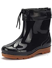 uirend Scarpe Stivali Uomo - Impermeabile Stivali da Neve Pioggia Uomo Gomma  Alta Moda Stivaletti Equitazione 26e7cc00a7a