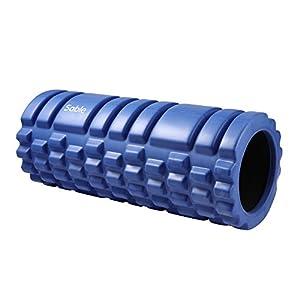 Foam Roller Sable Rullo Massaggio Trigger Point, Massaggiatore in EVA per Muscoli Leggero e Duraturo per Dare Sollievo alla Rigidità della Schiena, dei Quadricipiti, dei Fianchi, delle Cosce e dei Polpacci