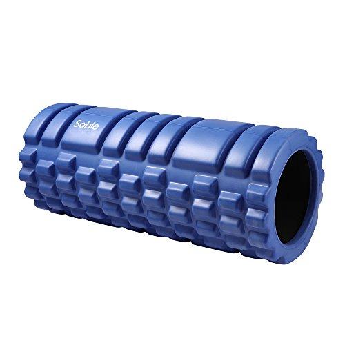 Sable Rullo in Schiuma Foam Roller per Massaggi, Fitness e Ginnastica Extra Leggero e Portatile Rullo per Massaggi per Fascia Rullo da Ginnastica I Rullo da Fitness e per Yoga (Blu)