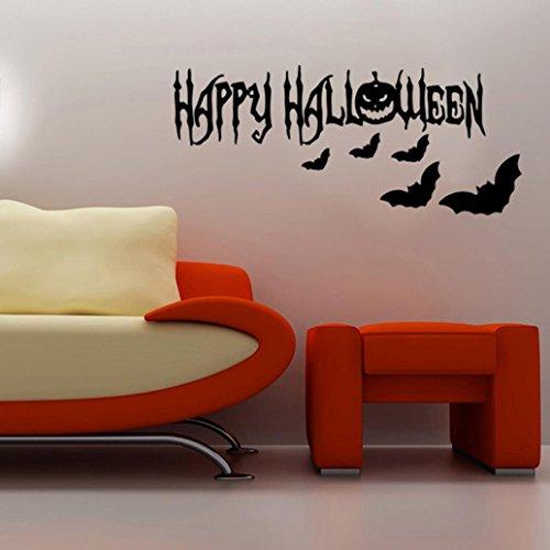 Xmansky Glücklich Halloween Haushalt Abnehmbar Mauer Aufkleber Wandgemälde Wandsticker (D)