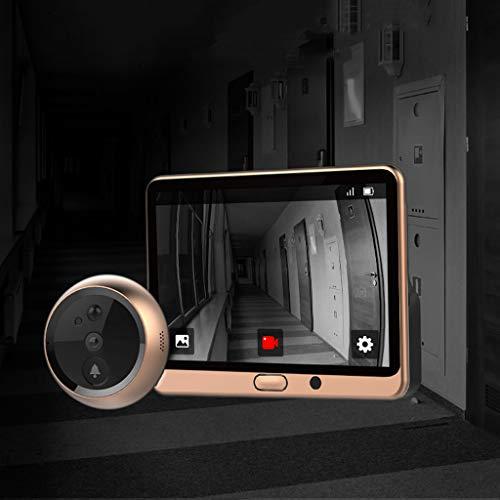 Intelligent electronic cat eye camera visual doorbell anti-theft home door mirror-128GB  AA pet camera