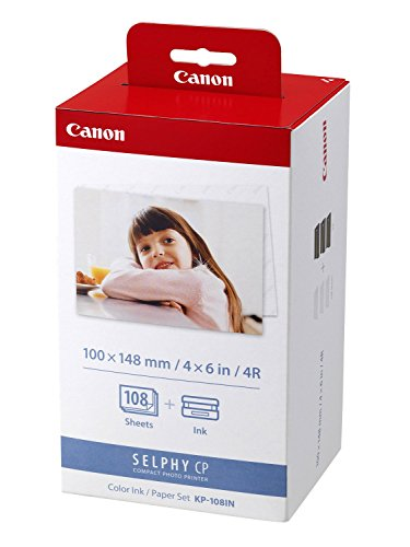 Preisvergleich Produktbild 1x Original Canon Multipack KP-108IN KP108IN für Canon Selphy CP 800 - 100x148mm, 108 Blatt, 3x Kartusche Farbig -