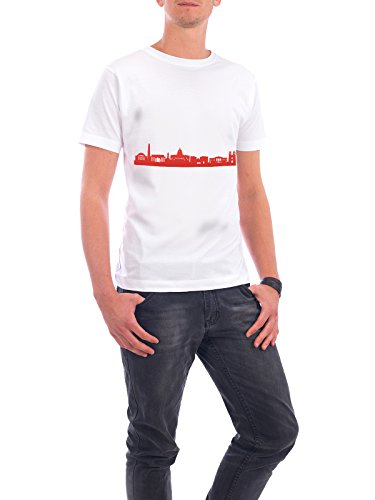 """Design T-Shirt Männer Continental Cotton """"WASHINGTON 03 Monochrom Tangerine"""" - stylisches Shirt Abstrakt Städte Städte / Washington Reise Reise / Länder Architektur von 44spaces Weiß"""