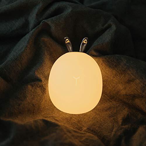 (WDXIN Baby Nachtlicht LED Karikatur Kreativ Weiches Licht Silikon Silikonlampe Nachttischlampe Baby Fütterung Kind Schlaf Tischlampe,B,143 * 100 * 100Mm)