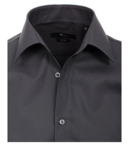 Venti - Slim Fit - Bügelfreies Herren Business Hemd mit Extra langem Arm (69cm) in verschiedenen Farben (001489) Grau (75)