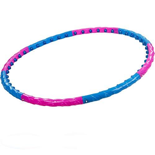 MOVIT® Hip Hoop Hula Hoop Reifen, Massagenoppen und Magnete, 3 Varianten: 0,9/1,3/1,7 kg, 3 Jahre Garantie