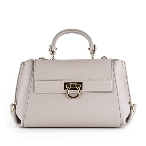 Salvatore-Ferragamo-Womens-0642794-Grey-Leather-Handbag