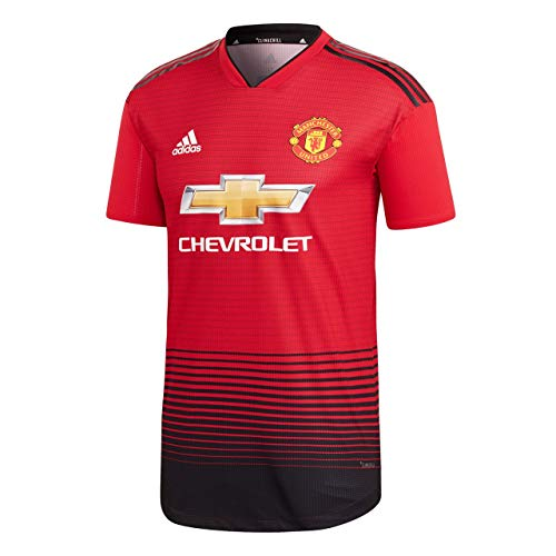 Adidas-authentic Home Trikot (adidas Herren 18/19 Manchester United Home Authentic Trikot, real red/Black, S)