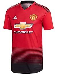 adidas MUFC H AU JSY - Camiseta 1ª equipación Manchester United FC, Hombre, Rojo