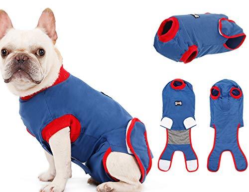 Tineer Dog Recovery Suit - Reine Baumwolle E Collar Alternative für Hunde Schutz-Welpen-Wunden nach Chirurgie-Haustier-Abnutzung - Verhindern Sie lecken, beißen, und Belästigung Anderer Haustiere (M) -