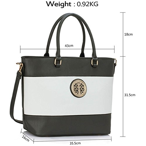 Xardi London, Borsa tote donna large Grey/White