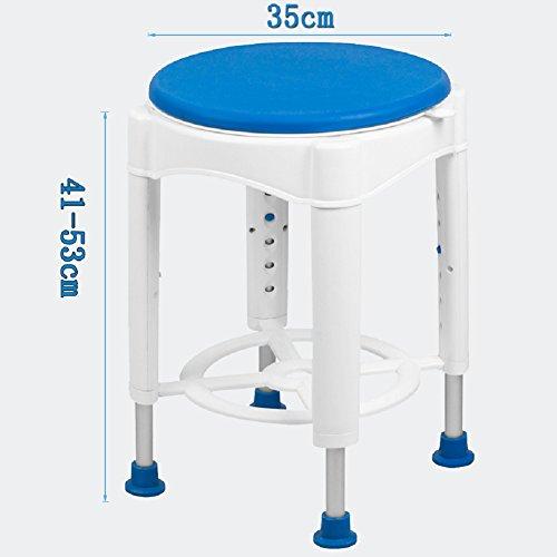 GPF Dusche-Schemel/Justierbarer Bad-Stuhl/Medizinische Rutschfeste Badewannen-Sitzbank Für Ältere, Ältere, Handikap, Untaugliche Runde,1 (Deluxe-aluminium-bad-bank)