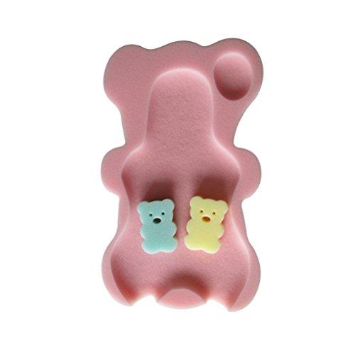 YeahiBaby Baby Badeschwamm Badewannensitz Badematte Antirutschmatte Badehilfe Schwamm rutschfest (Rosa)
