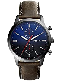 Fossil Men's Chronograph Quartz Watch with Leather Strap FS5378