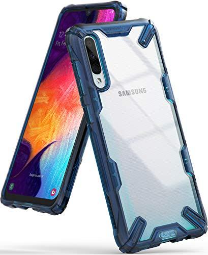 Ringke Fusion-X Gestaltet für Galaxy A50 Hülle, Transparent Rückseite Renovierter TPU Rahmen Bumper Stoßfänger Doppelter Schutz Case für Galaxy A50 (2019) - Space Blue