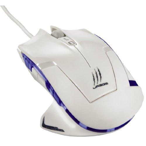 uRage Ice Dragon White Edition Gaming Maus (USB, dpi von 800 - 3400 regelbar, 5 programmierbare Tasten, blaue LEDs) weiß