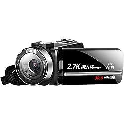 FULANTE Appareil Photo numérique, 30 mégapixels HD Appareil Photo numérique à la Maison, WiFi avec écran Tactile de Vision Nocturne Infrarouge caméra dv retardateur à Distance