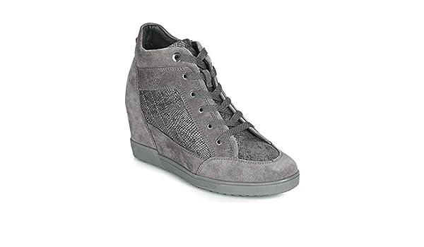 Geox D Carum C, Baskets Hautes Femme: : Chaussures
