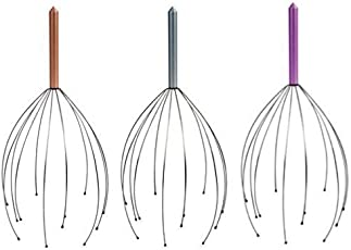 Worthy Shoppee Wood Head Massager, Brown (Set of 3)