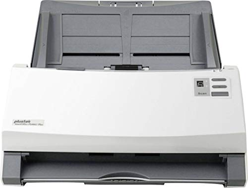 Ultraschall-scanner (Plustek SmartOffice PS406U Plus Duplex Dokumentenscanner mit Ultraschall- Doppelblatterkennung (ADF, 600dpi, 40ppm))
