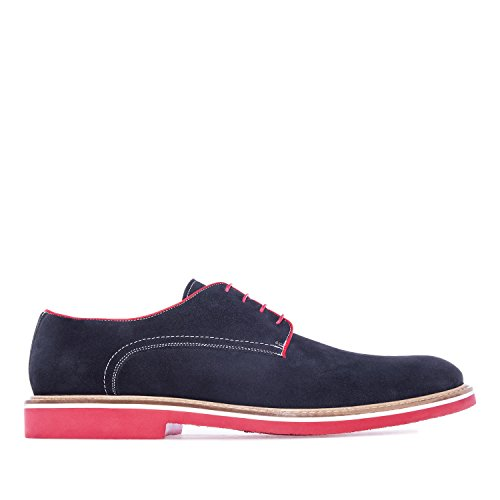 Andres Machado.6188.Chaussures Style Oxford Cuir .Pour Hommes.Grandes Pointures du 47 au 50.MADE IN SPAIN… Bleu Marine