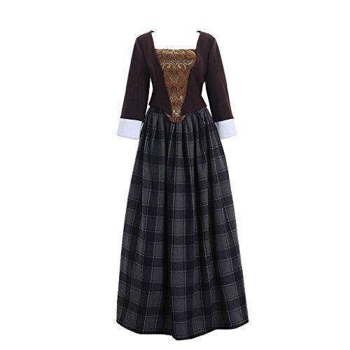 Fedex Paket Kostüm (Cosplayitem Mittelalterliches Viktorianischen Kleid Blumen Gedruckt Vintage Cosplay)