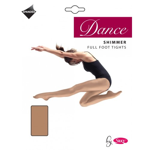 Silky Mädchen Tanz-Strumpfhose mit Schimmer-Effekt (7-9 Jahre) (Toast) - Schimmer-effekt