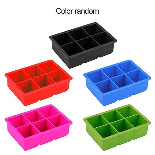 Neuheit 6-Square Soft Silikon Cube Eismaschine Maker Jelly Pudding Schimmel für Biskuit Kuchen zubereitetes Essen Schokolade Mousse bestreut