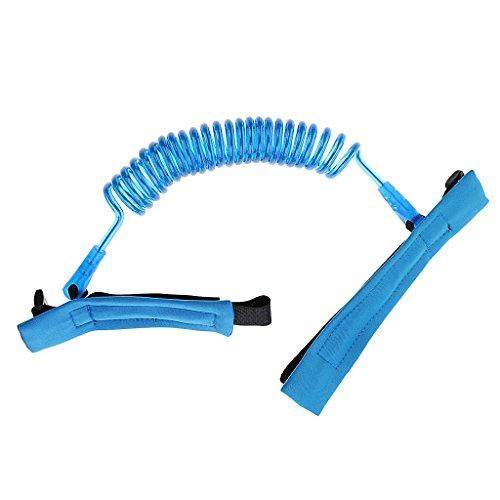 Gazechimp Sicherheitsgurt Leine Anti Lost Handgelenk Traktion Seil Armgelenk Band für Kinder - Blau, 1,5meter