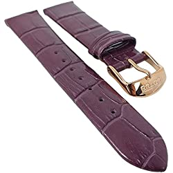 Lotus Replacement Watch Bracelet 19 mm Purple Leather, Shiny L18308/1