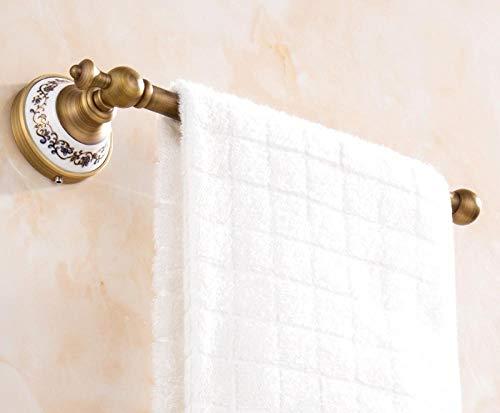Portasciugamani da bagno Retro portasciugamani in rame Appendiabiti da parete europeo per cucina Bagno Soggiorno-Porcellana antica blu e bianca