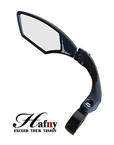 Hafny Lenker-Fahrradspiegel, HD, schlagfest, Glaslinse für Fahrzeugqualität (95 Linke Silber)