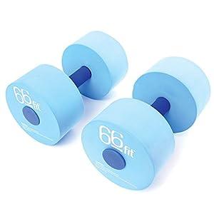 66Fit Aqua Schwimmhanteln (2 STK) – für Aqua-Fitness, Jogging, Wassergymnastik